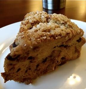 Gluten free cinnamon scone.